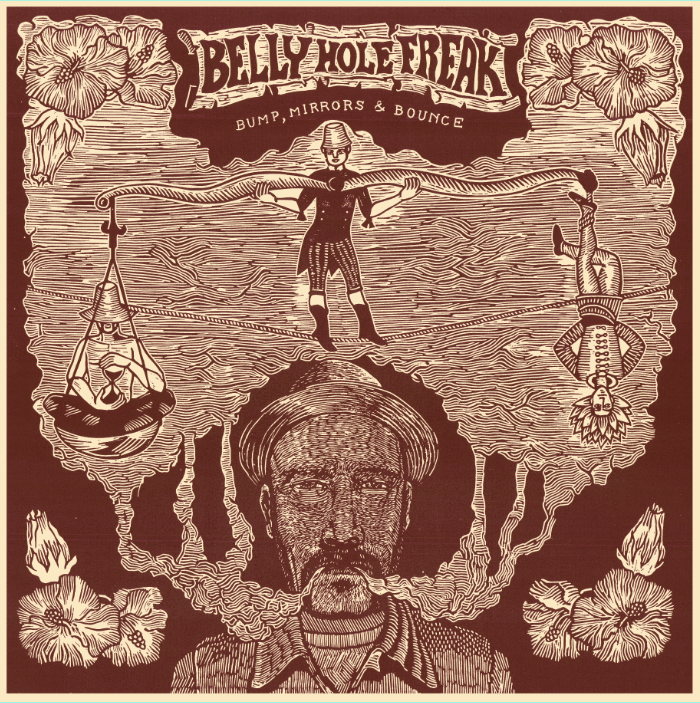 Bump, Mirror & Bounce Vinil cover artwork and layout for Belly Hole Freak